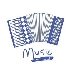 accordion instrument isolated icon design vector image