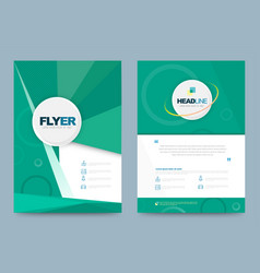 Annual report brochure flyer design template use vector