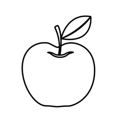 Apple fresh fruit isolated icon vector