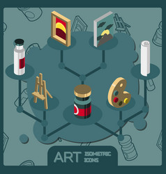 art isometric concept icons vector image