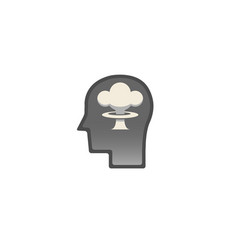 atomic brain logo vector image