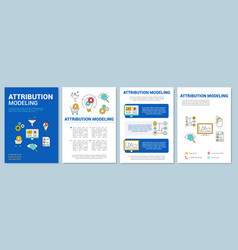 Attribution modeling brochure template layout vector