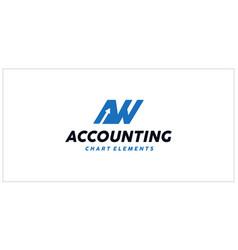 Aw accounting financial logo vector