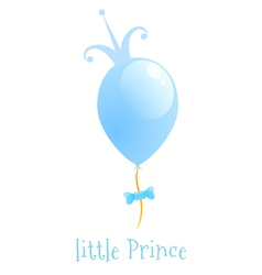 Balloon with a gold crown Background Little Prince vector image