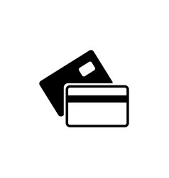banking credit card flat icon vector image