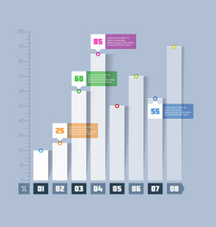Bar chart graph infographics element vector
