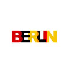 berlin phrase overlap color no transparency vector image