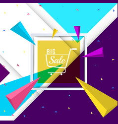 big sale paper banner template design vector image