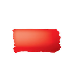 brush stroke red paint on white background vector image
