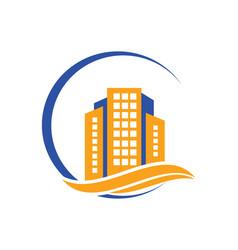 Building town cityscape logo vector