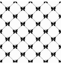 Butterfly monochrome pattern vector