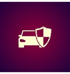 car shield icon Flat vector image
