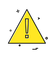 caution icon design vector image