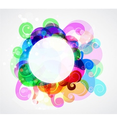 Colorful abstract frame vector