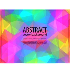 Colorful mosaic banner vector image
