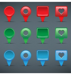 Colorful web buttons checkboxes pointers vector image