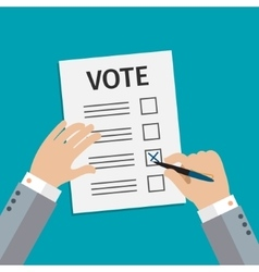 concept voting vector image