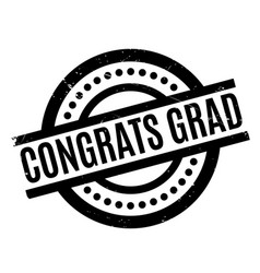 congrats grad rubber stamp vector image