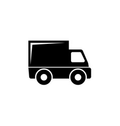 delivery truck flat icon vector image