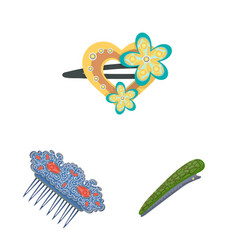 Design barrette and hair icon vector