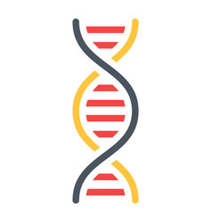 dna flat icon science and biology vector image