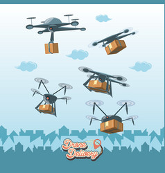 Drone service set icons icon ilustration vector