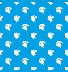 eagle pattern seamless blue vector image