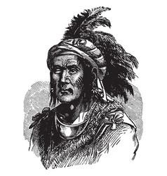 Elkswatawa the prophet vintage vector