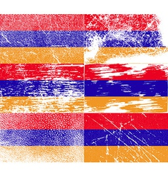 Flag of Armenia with old texture vector image