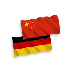 Flags germany and china on a white background vector
