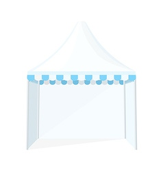 Folding tent marquee vector