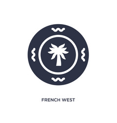 French west african franc icon on white vector