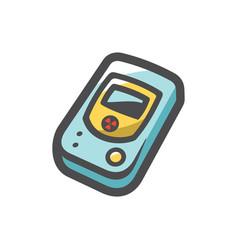 Geiger counter radiation detector icon vector