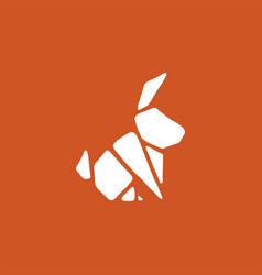 geometric rabbit bunny hare logo icon vector image