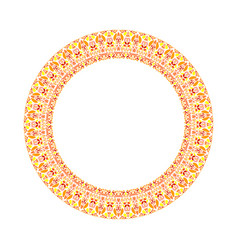 Geometrical floral wreath - abstract round element vector