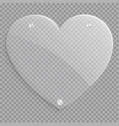 Glass heart icon vector