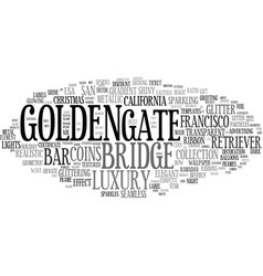 Golden word cloud concept vector