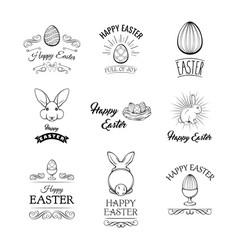 Happy easter labels set vector
