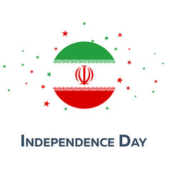 Independence day of iran patriotic banner vector
