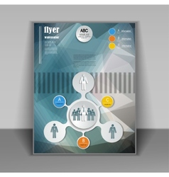 Layout of brochures and flyers vector