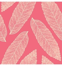 leaf skeleton pattern vector image