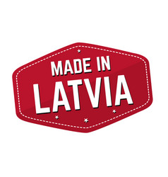 made in latvia label or sticker vector image