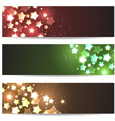 Magic header footer flyer collection vector