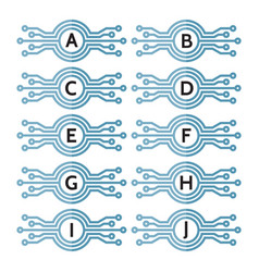 modern computer technology - logo template vector image
