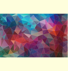multicolor triangle mosaic abstrat background vector image
