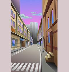 Narrow street in city vector