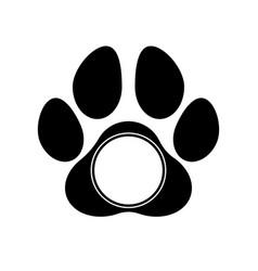 paw print monogram vector image