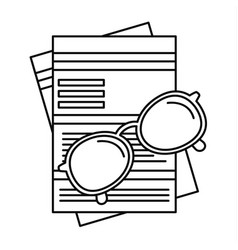 Paycheck paper icon outline style vector