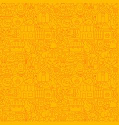 pet shop line seamless pattern vector image