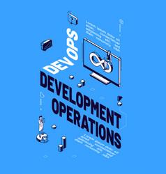 poster devops development operations vector image